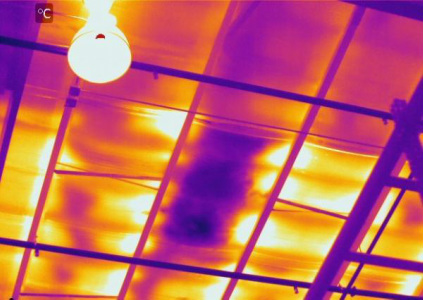 Infrared (IR) Thermal Image of Wet Roof Insulation | Infrared (IR) Thermal Imaging | 360 Inspection Services