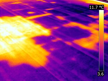 Infrared (IR) Thermal Image of Roof Leak | Infrared (IR) Thermal Imaging | 360 Inspection Services